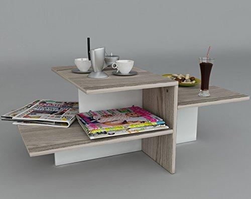 WHISPER-Tavolino-basso-da-salotto-Bianco-Avola-materiale-in-legno-Tavolino-da-divano-Tavolino-da-Caff-moderno-in-un-design-alla-moda-con-mensola