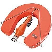 Fer à cheval de Bouée de sauvetage Orange avec flash Bouée dans support