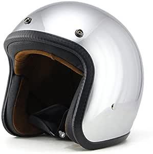 Helmet Motorrad-Helm Jet-Helm Scooter-Helm Vespa-Helm Halbhelme Motorrad Helm Flat Gelb M Woljay 3//4 Offener Sturzhelm