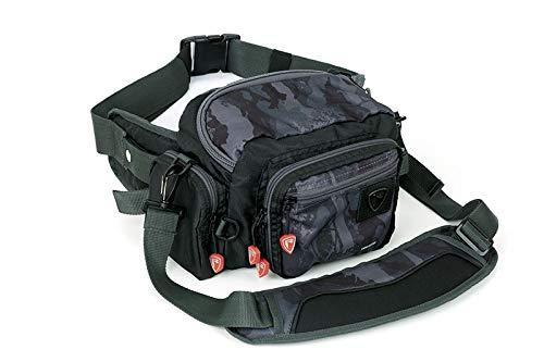 Fox Rage Camo Deluxe Belt - Kunstködertasche zum Spinnfischen, Angeltasche für Kunstköder, Tackletasche für Spinnangler, Tasche