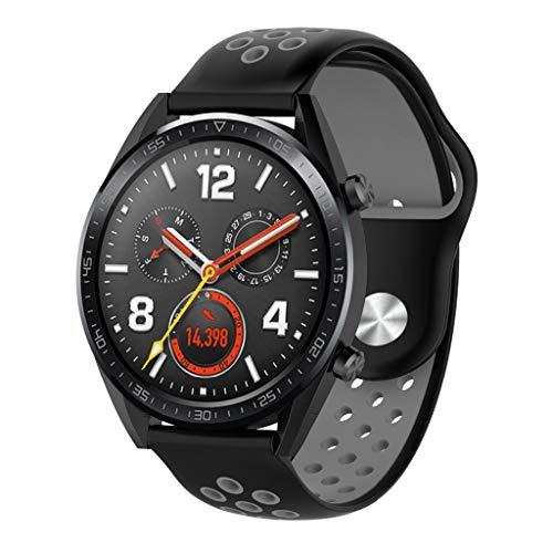 Cyond für das Huawei Watch GT Fitness-Armband, Silikon - Armband wasserdicht/Regenschirm/schweißfest, porös atmungsaktiv, intelligente Uhr - Uhrarmband (Schwarz)
