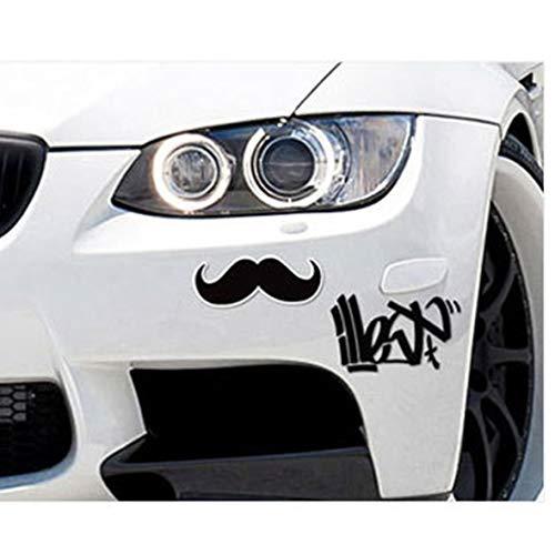 Monllack Kreative zweischichtige dreidimensionale britische Winddetektiv-Schnurrbart-Änderungs-Applique-lustige Auto-Aufkleber -