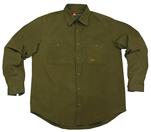 robustes Outdoor Herrenhemd in rot, grün und braun, Langarm Shirt