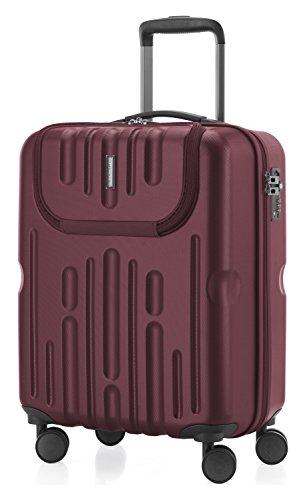 HAUPTSTADTKOFFER - Havel - Handgepäck mit Laptop-Fach Hartschalen-Koffer Kabinen-Trolley Rollkoffer, TSA, 54 cm, 41 Liter, Burgund (Kabine Koffer)