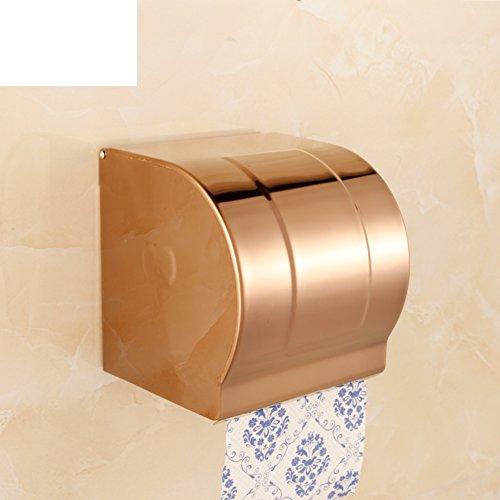 HCP Rose Gold Edelstahl Toilettenpapier-Kassetten-Toilette/Gewebehalter Gewebekasten/Toilettenpapier Papierhalter /Wasserdichte Handschale