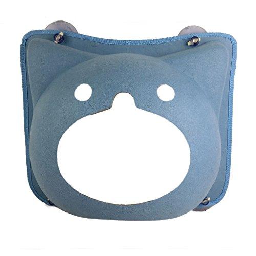 Suministros para camas Hamaca Cama de Gato Cama para Mascotas Cama de Perro Plataforma de Salto de Mascotas Marco de Escalada de Gato Pared del balcón Placa de succión 20kg (Color : Blue)