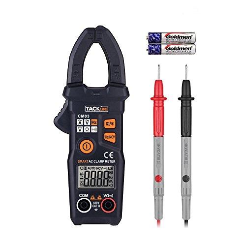Tacklife CM03 Pinza Amperometrica Intelligente Multimetro Digitale Professionale Identificazione Automatica Senza Cambio Manuale, Protezione da Sovraccarico Sicuro e Tascabile con 1 Sola Mano