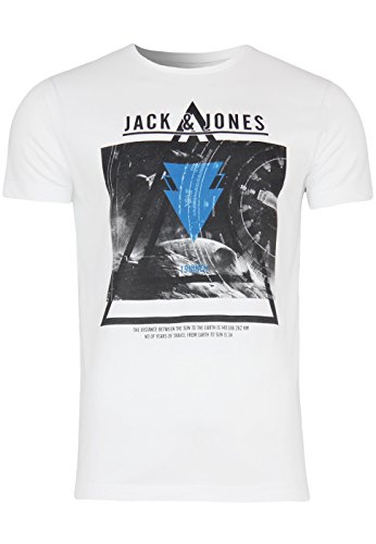 Jack & Jones T-Shirt Jjcofuture Frontier Tee Reg White / Comb 1