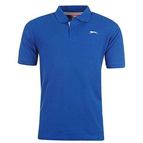 Slazenger Polo para hombre, de manga corta, azul, XXL