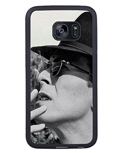 David Bowie Hat Cigarette Glasses Look Nero Shell Phone Case Fit For Samsung Galaxy S7 Edge,Beautiful Cover,cassa del caso cover