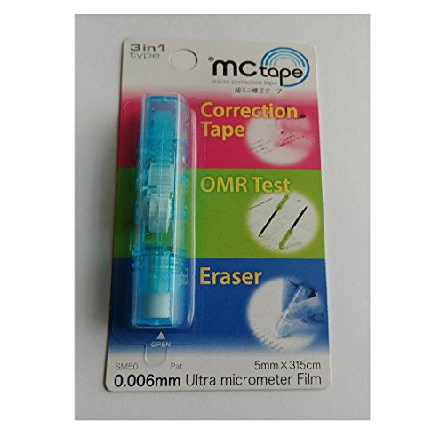 MC tape Micro 3In1 Multi Correction Tape(20 In 1 Package), Tape Eraser With Pen Attachment ,Eraser, Sign Pan For Computer