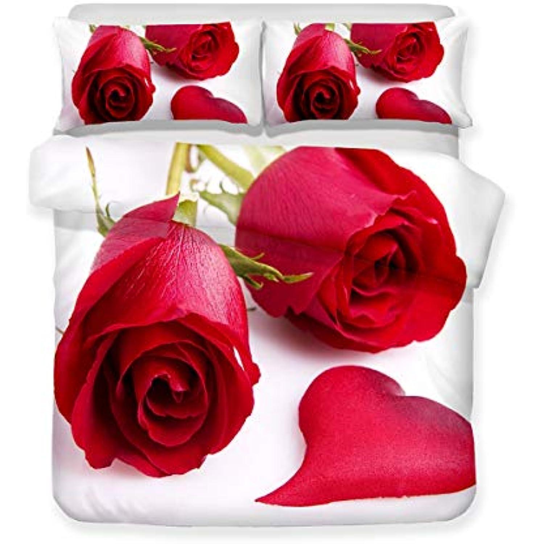 XMH Shop Housse de Couette 3D en Forme de de de Rose Rouge en Forme de cœur. 228×228 3002d7
