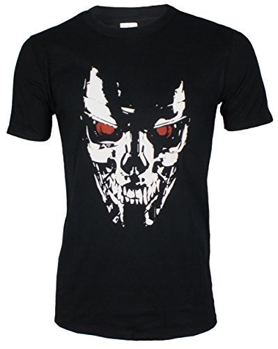 Men's Terminator Movie Cyborg Skull T-shirt
