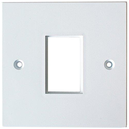 Cablefinder Single Gang Modul/Modularer Rahmen-25x 38mm- LJ6C Wall Face Plate Kabelausgang TV -
