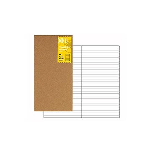 Midori Nachfüllpack für Reise-Notizbuch, liniert (refill 001).