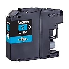 Brother LC123C Inkjet Cartridge, Standard Yield, Cyan, Brother Genuine Supplies