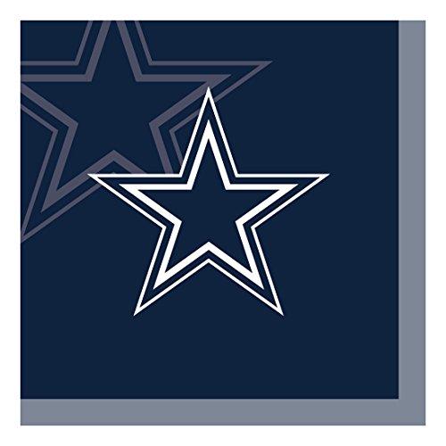 Creative Converting NFL-Papierschüssel, offizielles Lizenzprodukt, 8 Stück, 570 ml, Dallas Cowboys Beverage Napkins (Cowboy Dallas Dekor)