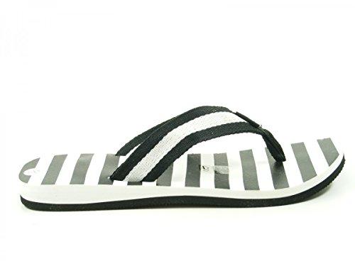 Fashy 7770 V-Strap Schuhe Damen Badepantoletten Zehentrenner Schwarz