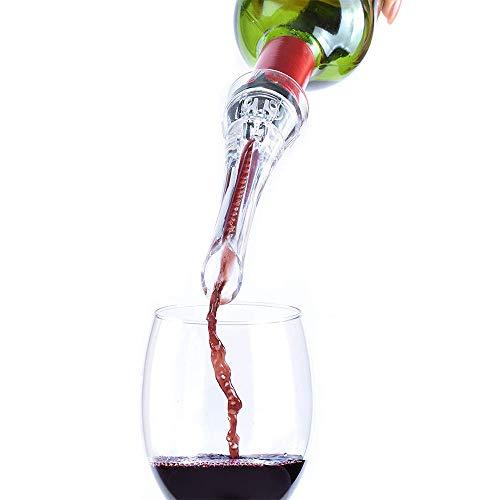 Tomone Weinbelüfter Ausgießer,Premium Wein Dekantierer Weine Dekantieren für Rotweinliebhaber (Drehbar)