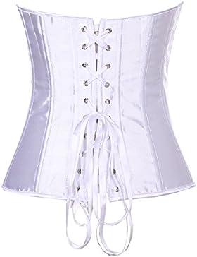 La mujer clasica látex blanco cintura Cincher correa cintura Edición metálica formador y Shaper