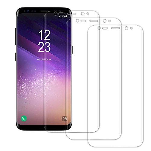 Schutzfolie für Samsung Galaxy S8 -[3 Stück]Senisttech Galaxy S8 Displayschutzfolie- Vollständige Abdeckung-3D Touch Kompatibel, Ultra Kristallklar 99% Transparenz