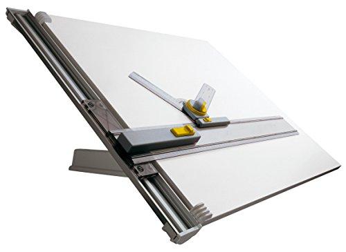 aschine (A1, mit Tisch, 700 mm Arbeitsraumhöhe, verstellbarer Neigungswinkel, kunststoffbeschichtete Zeichnenplatte) grau ()