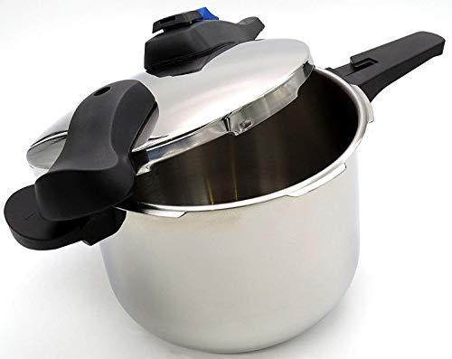 Steinbach Edelstahl Schnellkochtopf 6 Liter | Kochtopf | Ø 22 cm | mit Skalierung | 2 Kochstufen | Schonstufe | Schnellstufe