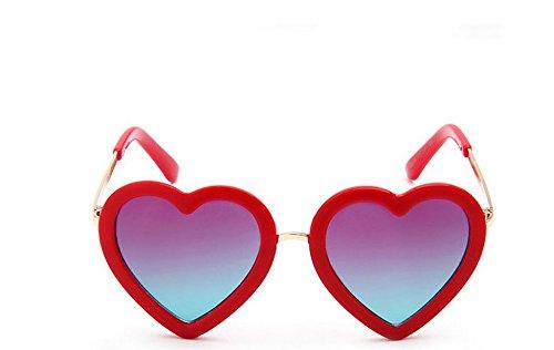 (Qingsun Mädchen Schönes Sonnenbrille Schutzbrillen 5 Farbe Schönes herz Form herzförmige)