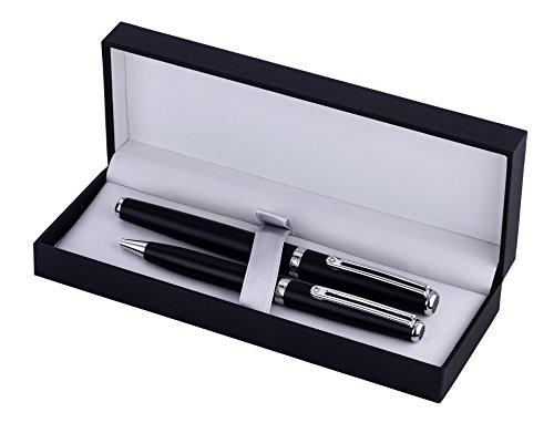 Inoxcrom Excellence Wall Street Geschenkbox Titan Füllfederhalter und Kugelschreiber Set - Schwarz...