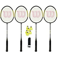 Wilson Fluo Badminton Set, including Net, Posts and Shuttles