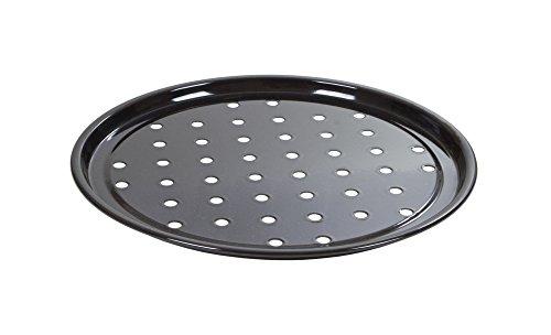 New Wham Black Vitreous Enamel Round Pizza Oven Tray 30cm 55225