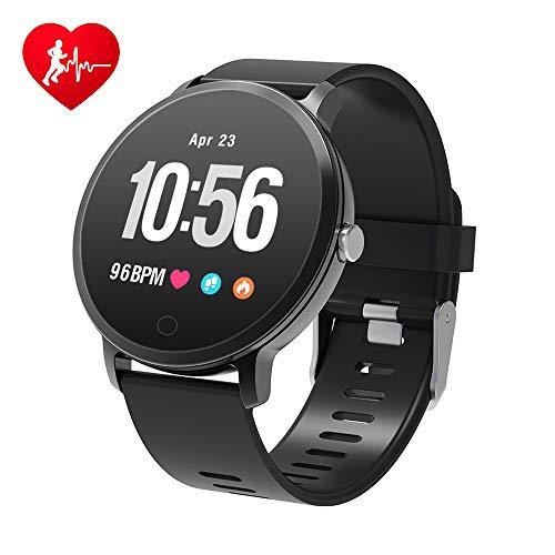 banduhr Wasserdicht Smart Watch Fitness trackers Sport Uhr mit Schrittzähler, Pulsmesser, Kamerasteuerung, Musiksteuerung, Schlaf-Monitor, Call SMS Android iPhone Handy ()