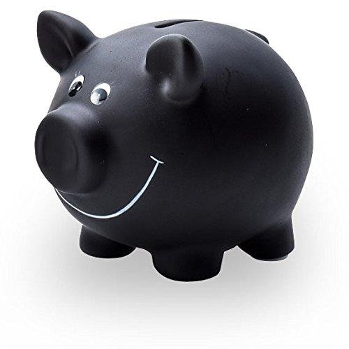Pajoma 60279 Sparschwein mit Kreide, klein, aus Keramik, 9,5 cm