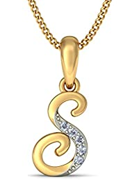 BlueStone Yellow Gold and Diamond Liham S Pendant