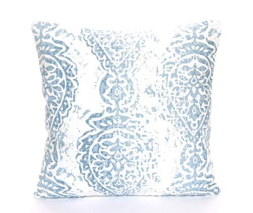 YorkeIII Blue White Throw Pillow Kissen Kissen Couch Sofa Pillow Slate Blue Nursery Pillow Bedding Euro Sham Soft Denim Blue Shabby Chic - Denim, Pillow Sham