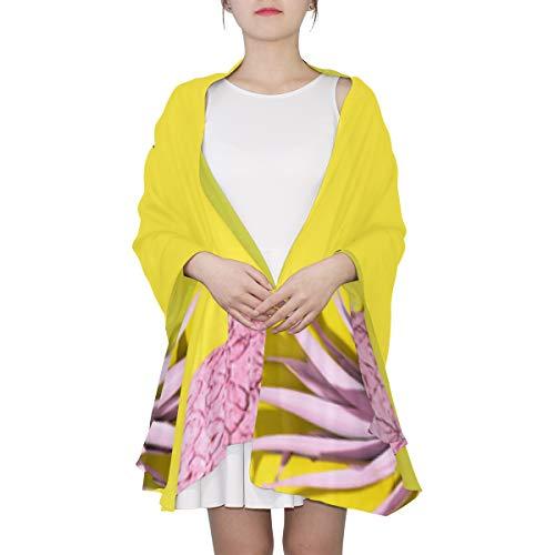 Mode Ananas und Pink Unique Fashion Schal für Frauen Leichte Mode Herbst Winter Print Schals Schal Wraps Geschenke für den frühen Frühling - Ananas Grenze