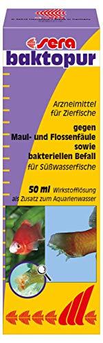 sera 02550 baktopur 50 ml - Arzneimittel gegen bakterielle Infektionen bei Zierfischen (z. B. Maul- und Flossenfäule)