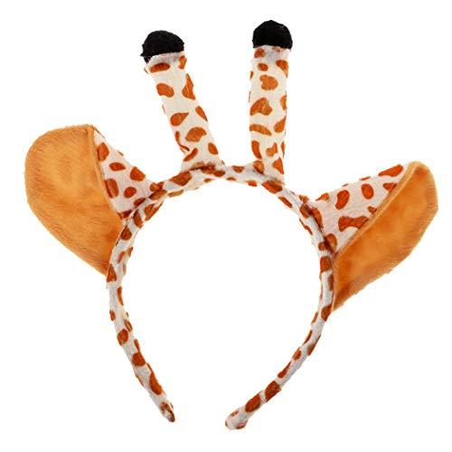 SeaStart Kinder Kleinkind Giraffe Ohren Haarreif Ohren Kostüm Haar Reif Haarband Haarrschmuck Karneval Halloween Fasching Kostüm (Kostüm Kleinkind Giraffe Halloween)