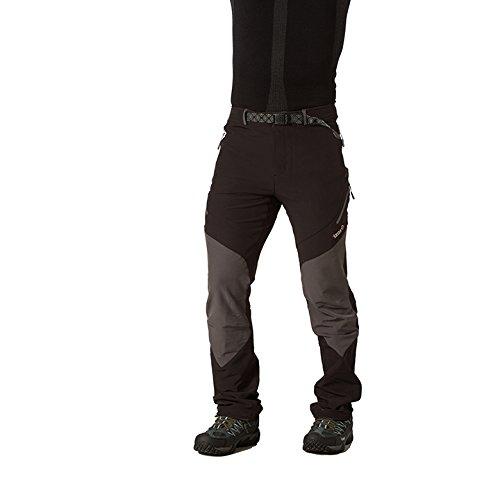 Izas Cade - Pantalón de montaña para hombre, color negro / gris oscuro, talla XL