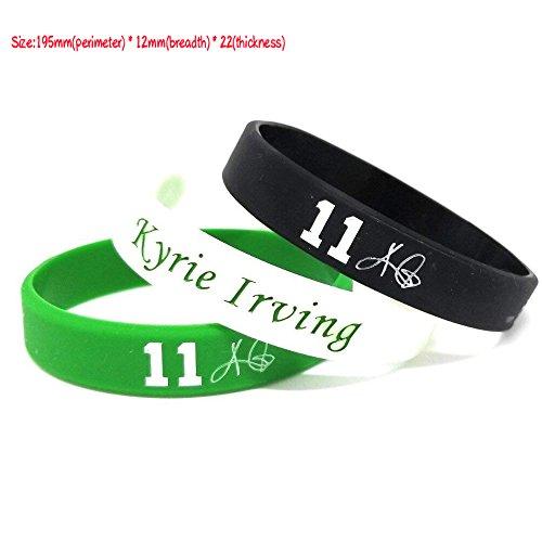 FANwenfeng NBA Basketball Kyrie Irving Unterschrift Silikon Armband Student Sport Armband (Mischfarbe (3 Stück)