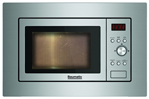 Baumatic BMIS3820 Built-In Standard Microwave Oven in Stainless Steel