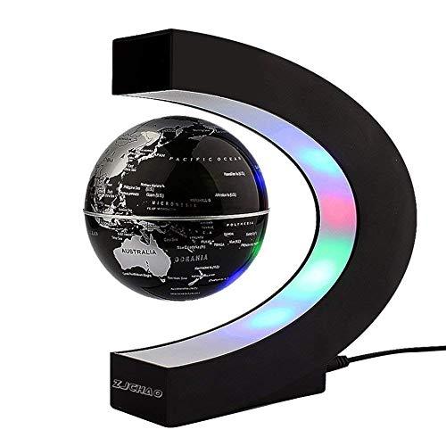Yosoo C Forma Fluttuante Globo con LED Luci Magnetico Campo Levitazione Istruzione Globo per Casa Ufficio Decorazione Idee Regalo - Nero