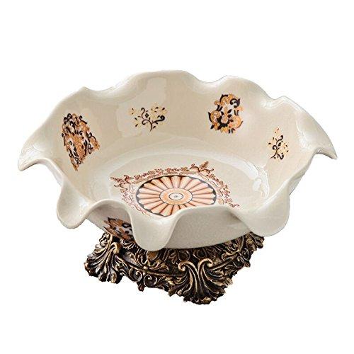 XOYOYO Im europäischen Stil Luxus Keramische Ziergegenstände Obstschale Aschenbecher Tissue Box Set Wohnzimmer Couchtisch Ornamente housewarming Geschenk, großen Obstteller T 812
