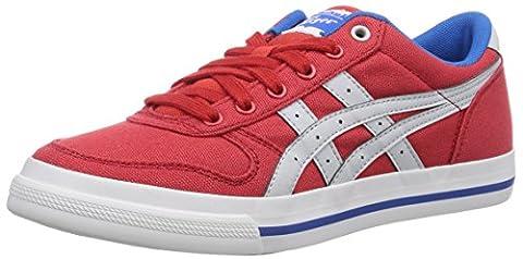 Onistuka Tiger Aaron, Chaussures de basket-ball mixte adulte - Rouge (2310-Fiery Red/Soft Grey), 41.5 EU (7 UK)