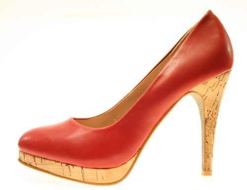 More Styling , Hi-Top Slippers femme Rouge - Rouge