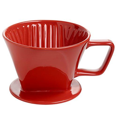 Maxwell & Williams IT51022  Kaffee Filter, Keramik, rot, 185 x 140 x 110 mm
