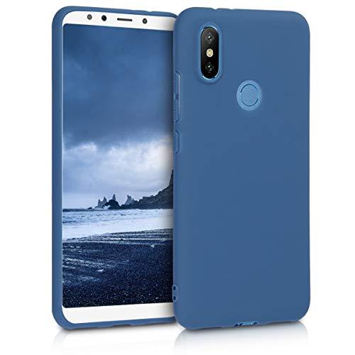 kwmobile Funda para Xiaomi Mi 6X / Mi A2 - Carcasa para móvil en TPU Silicona - Protector Trasero en Azul Marino