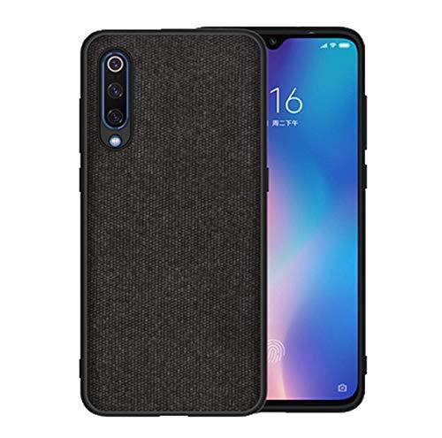 Kompatibel mit Xiaomi Mi 9 Hülle Xiaomi Mi9 SE Schutz Tasche Handyhülle Ultra Dünn Stoff aufrüsten Anti-Rutsch Anti-Fingerabdruck Case (Schwarz, Xiaomi MI9) -
