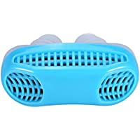 JRing Anti Snoring Devices Air Purification Apparatus Silicone Snore Stopper Magnetic Silicone Nose Clip Sleeping Device (Blue)