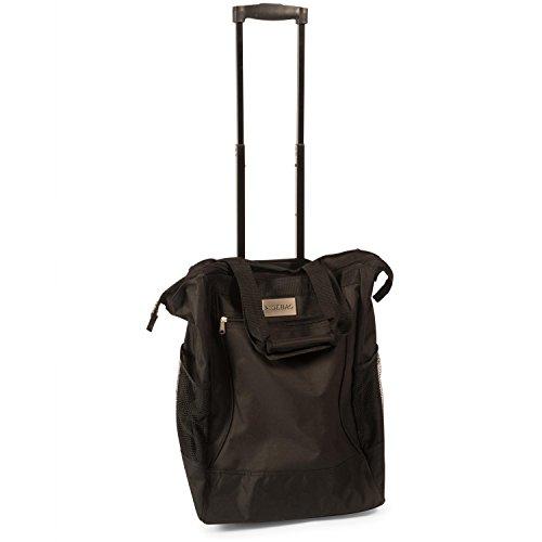 Einkaufstasche und Einkaufstrolley in einer Funktion, schwarz